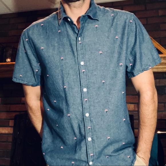Blue Flamingo J. Crew Slim Soft Wash Button Down Shirt